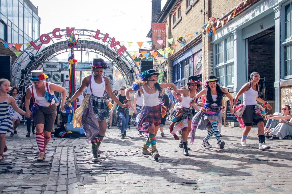 Ceilidh Jam in Camden Lock Market (by Talie Eigeland)